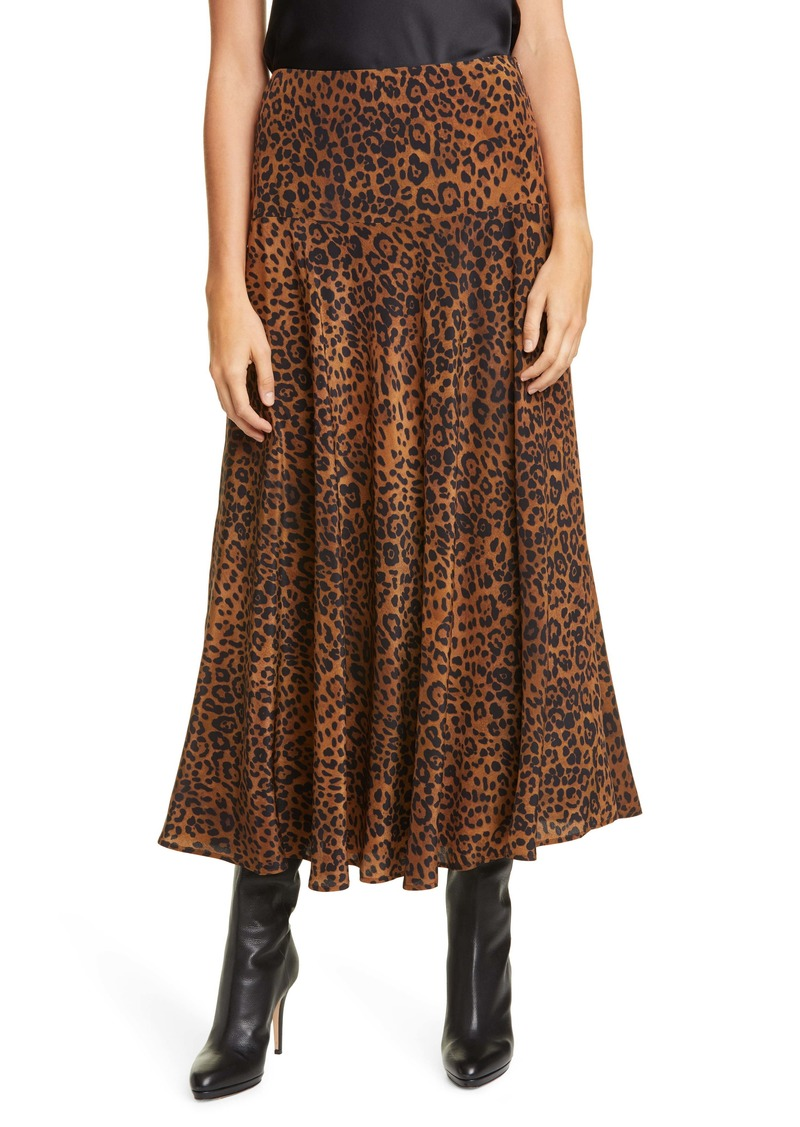 Lafayette 148 New York Elba Animal Print Silk Skirt
