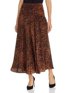 Lafayette 148 New York Elba Leopard Print Maxi Skirt