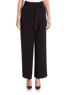 Lafayette 148 New York Eldridge Crepe Belted Pants