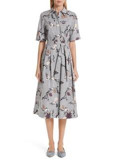Lafayette 148 New York Eleni Floral Stripe Shirtdress