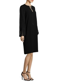 Eli Bishop-Sleeve Shift Dress