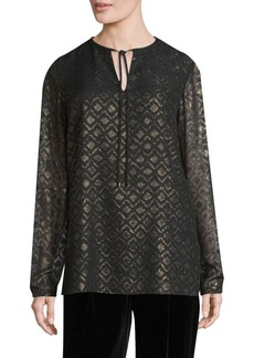 Lafayette 148 New York Eli Long Sleeve Blouse