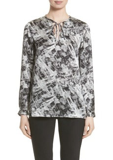 Lafayette 148 New York Eli Print Silk Blouse (Nordstrom Exclusive)