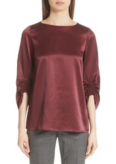 Lafayette 148 New York Elisio Silk Charmeuse Blouse (Nordstrom Exclusive)