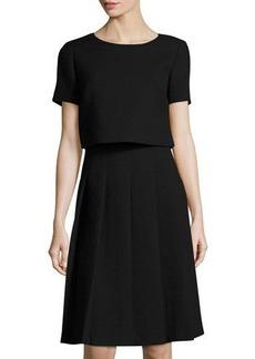 Lafayette 148 New York Ella Layered Wool Dress