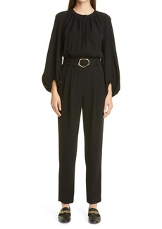 Lafayette 148 New York Ellis Belted Finesse Crepe Jumpsuit