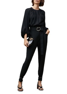 Lafayette 148 New York Ellis Belted Jumpsuit