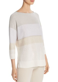 Lafayette 148 New York Embellished Lightweight Sweater
