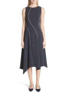 Lafayette 148 New York Emberlin Finesse Crepe Dress