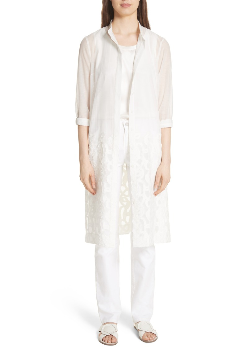Lafayette 148 New York Embroidered Hem Tunic