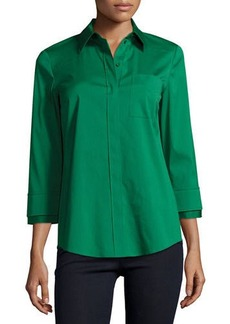 Lafayette 148 New York Emerson 3/4-Sleeve Blouse