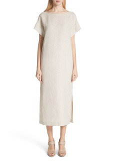 Lafayette 148 New York Emiline Stripe Linen Dress