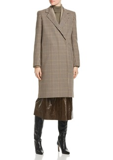 Lafayette 148 New York Emmalyse Check-Patterned Wool Coat