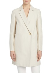 Lafayette 148 New York Emmalyse Cotton & Linen Coat