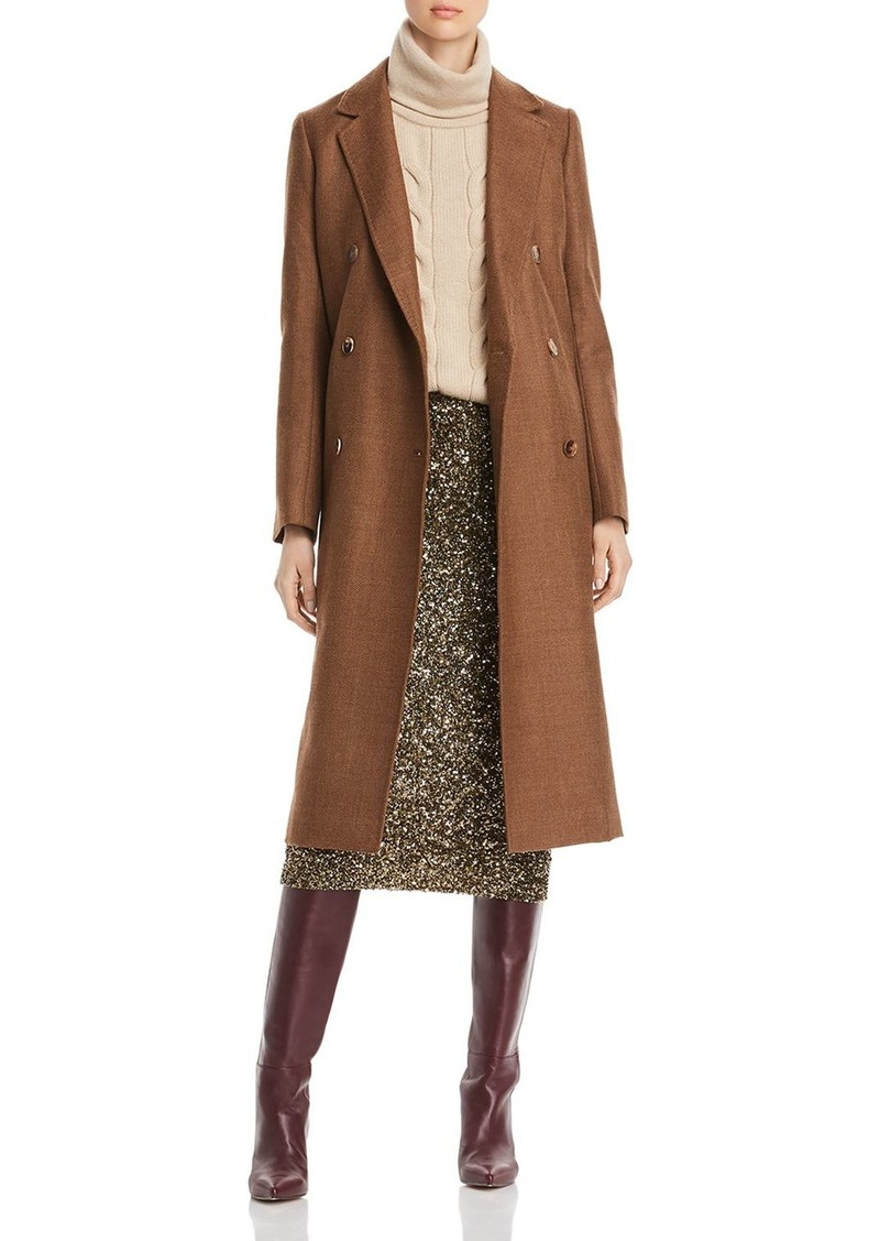 Lafayette 148 New York Emmalyse M�lange Long Peacoat