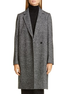 Lafayette 148 New York Emmalyse Wool Blend Coat