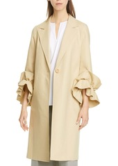 Lafayette 148 New York Emmie Ruffle Sleeve Coat