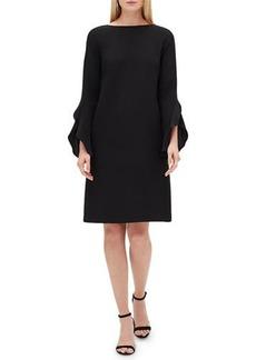 Lafayette 148 New York Emory Finesse Crepe Shift Dress  Plus Size