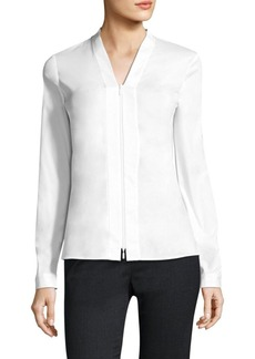 Lafayette 148 New York Erling Jersey-Combo Blouse