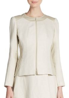 Lafayette 148 New York Essa Linen & Cotton Jacket