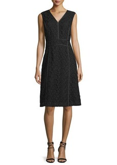 Lafayette 148 New York Essie Sleeveless V-Neck Dress