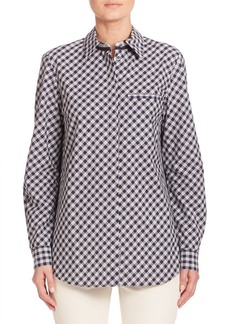 Lafayette 148 New York Eternity Check Brody Blouse