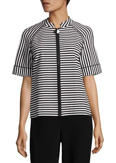 Lafayette 148 New York Ethan Striped Ponte Jacket