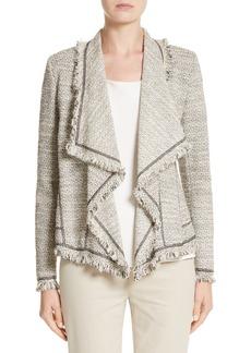 Lafayette 148 New York Eugena Drape Tweed Jacket