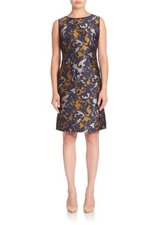 Lafayette 148 New York Evelyn Baroque Jacquard Dress