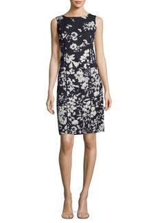 Lafayette 148 New York Evelyn Floral-Print Sheath Dress