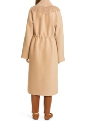 Lafayette 148 New York Everett Fringe Trim Double Face Cashmere Coat
