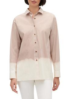 Lafayette 148 New York Everson Stripe Dip Bleach Shirt