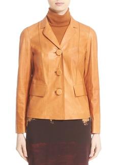 Lafayette 148 New York 'Evia' Lambskin Leather Jacket