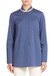 Lafayette 148 New York Excursion Stretch Avril Blouse