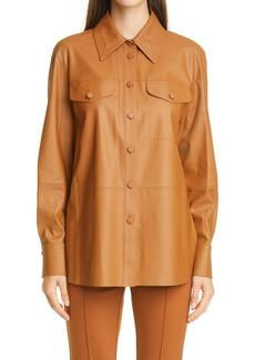Lafayette 148 New York Ezra Leather Shirt Jacket