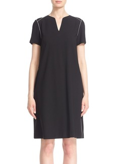 Lafayette 148 New York 'Ezra' Piped Shift Dress