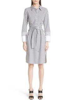 Lafayette 148 New York Fabiola Saxony Stripe Dress