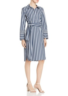 Lafayette 148 New York Fabiola Striped Shirt Dress