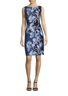 Lafayette 148 New York Faith Embroidered Floral-Print Dress