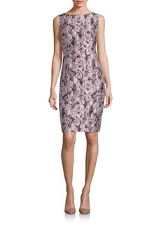 Lafayette 148 New York Faith Floral Jacquard Sleeveless Dress