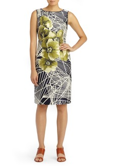 Lafayette 148 New York Faith Spiral Floral Jacquard Dress