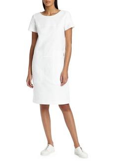 Farah Stretch-Canvas Shift Dress