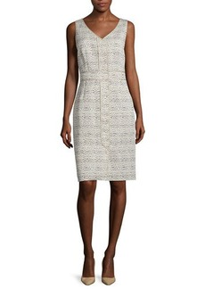 Lafayette 148 New York Farren Sleeveless Sheath Dress
