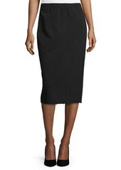Lafayette 148 New York Faux-Leather Trim Pencil Skirt