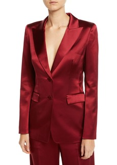 Lafayette 148 New York Faven Reverie Satin Jacket