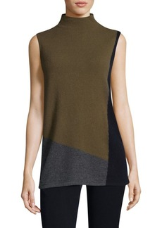 Lafayette 148 New York Felted Cashmere Colorblock Sweater
