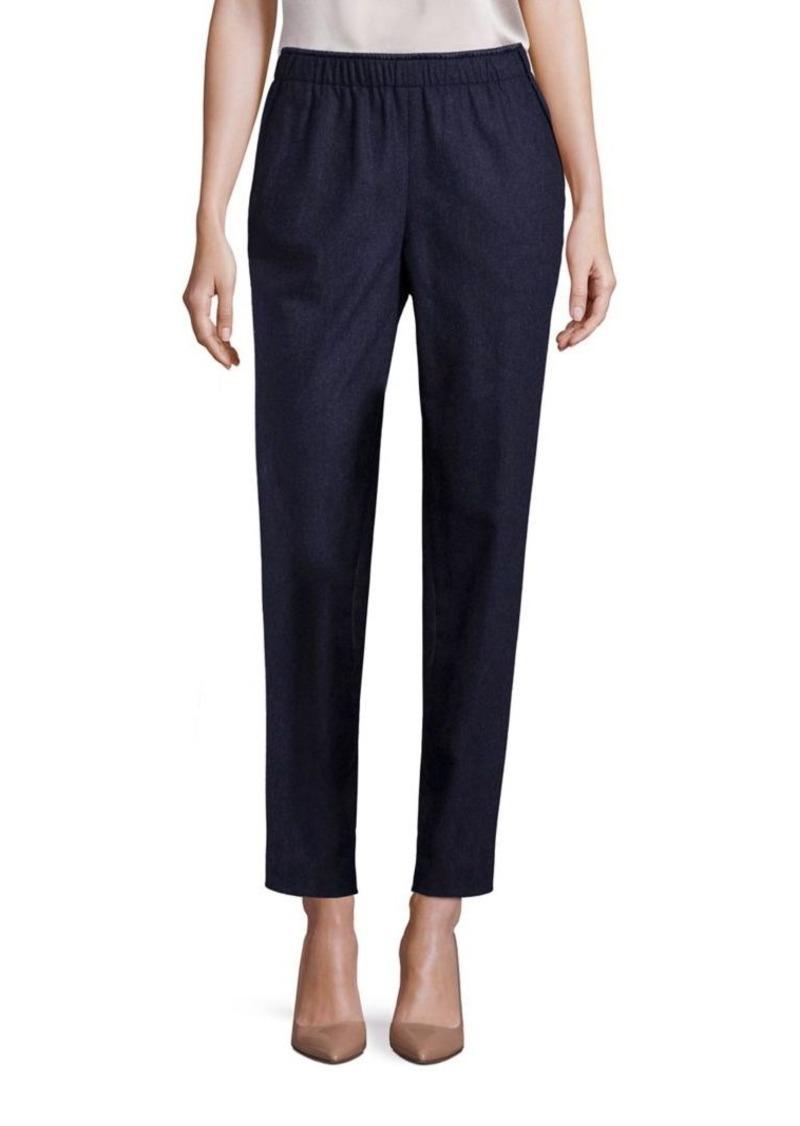 Lafayette 148 New York Finite Italian Flannel Track Pants