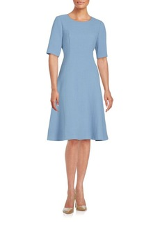 Lafayette 148 New York Fit-and-Flare Wool Dress