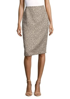 Lafayette 148 New York Fitted Printed Skirt