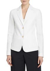 Lafayette 148 New York Fitz Cotton & Linen Blazer